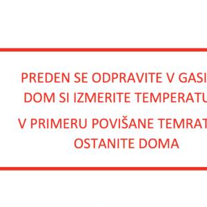 NAVODILA in SMERNICE SARS-CoV-2 (COVID-19)